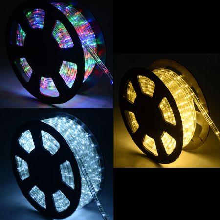 Weihnachtsbeleuchtung 10 M Lichterschlauch Lichterkette für Außen und Innen mit 360 LEDs
