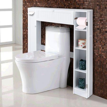 WC Toilette Überbauschrank Badregal