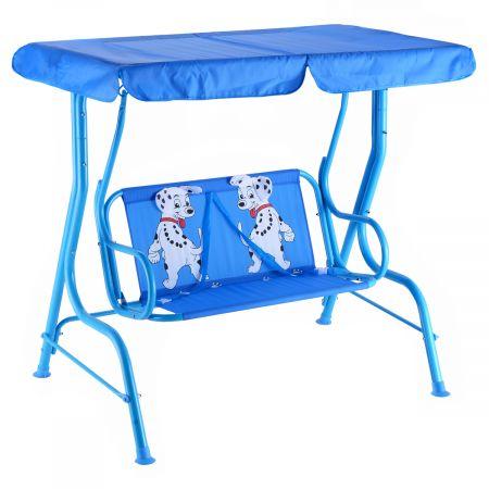 Kinder Hollywoodschaukel Kinderschaukel Gartenschaukel mit Sonnendach 2-Sitzer