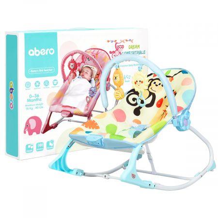 Costway 3 in 1 Babywippe Babyschaukel Babyliegestuhl Tragbare Schaukel Komfortabler Baby Schaukelstuhl Blau