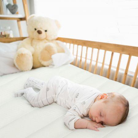Costway Kinderbett-Matratze Premium-Schaumstoff-Kinderbett Babymatratze 120 x 60 x 5 cm Weiß + Grau