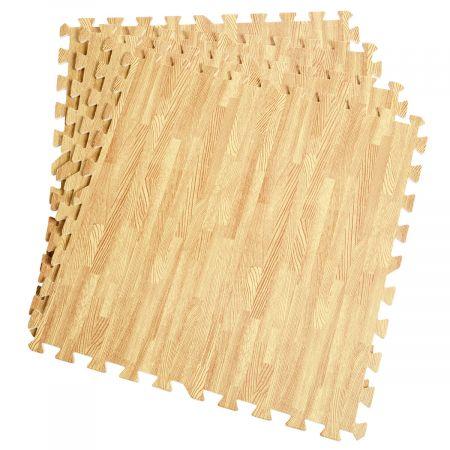 12 Stück Schutzmatten Set Bodenschutzmatte Puzzlematte Unterlegmatte für Bodenschutz