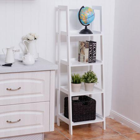4-Ebene Weiß Standregal Bücherregal Pflanzenregal