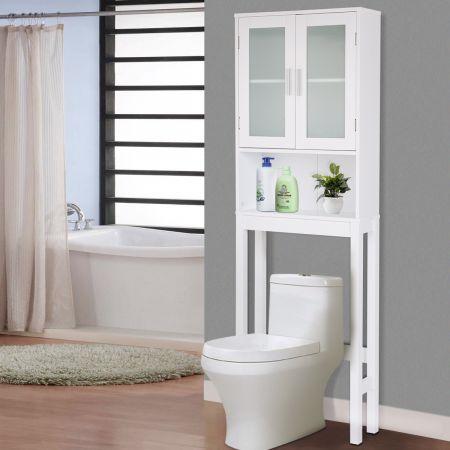 WC Toilette 3 Regalfächer Überbauschrank Badezimmerregal