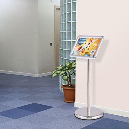 Infoständer Informationsständer Plakatständer Kundenstopper aus Metall drehbar (A4)