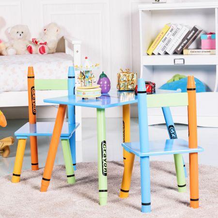 3 tlg. Kindersitzgruppe Kindermöbel mit Stuhl und Tisch