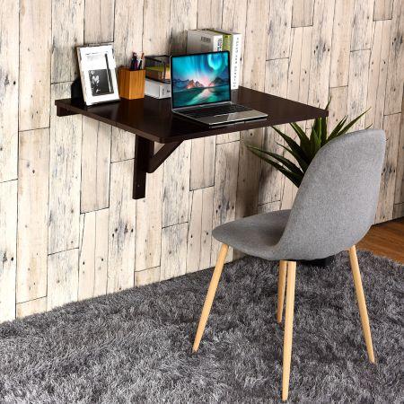 Wandklapptisch Faltmodi Schreibtisch Küchentisch Braun Holz 80 x 60 x 43 cm