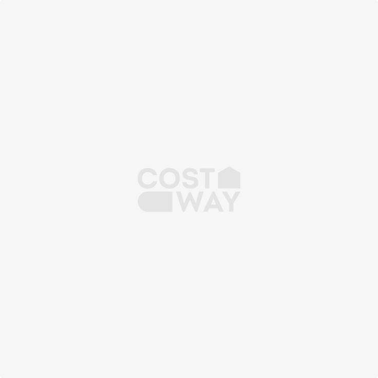 Costway 4er Set Esszimmerhocker Stapelbar Rundhocker Barhocker Tischhocker aus Holz Natur