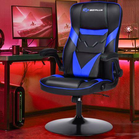 Costway Bürostuhl höhenverstellbar Gaming Stuhl Racing Stuhl Arbeitsstuhl Computerstuhl Blau