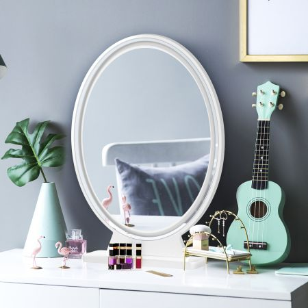 Costway LED Kosmetikspiegel Tischspiegel mit 4 Beleuchtungsmodi Makeup Spiegel