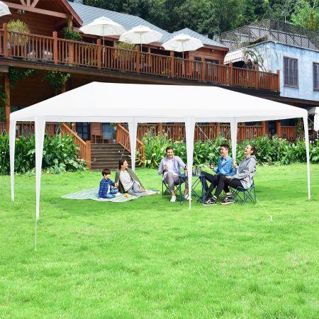 Gartenpavillon Partyzelt mit 4 abnehmbaren Seitenwänden Pavillon Bierzelt UV-Schutz Gartenzelt inkl. Tragetasche 3 x 6m