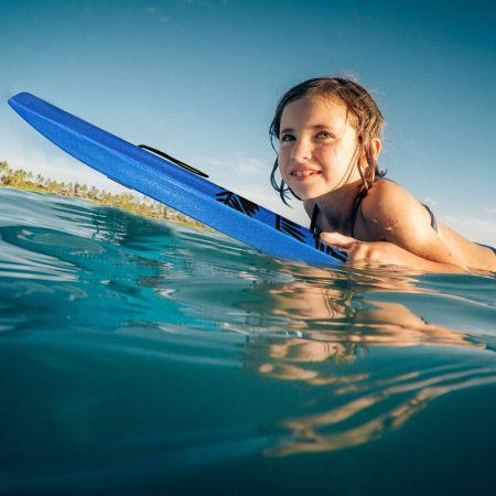 Bodyboard leichtgewichtig Schwimmbrett mit EPS-Kern & XPE Oberfläche für den Strand für Kinder & Erwachsene 94cm/106cm Blau
