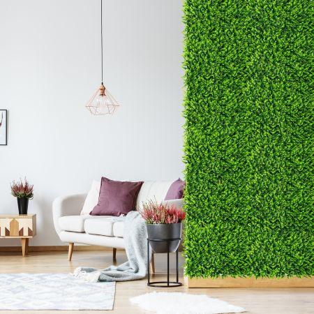 Costway 12 Stk. Künstliches Pflanzenwand Hecke Efeublättern Sichtschutz Heckenpflanze Windschutz für Garten 40,5 x 59 cm