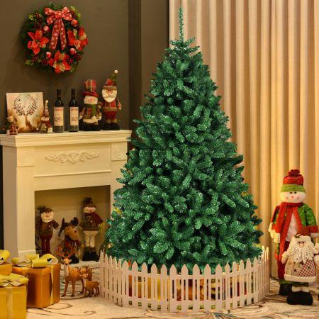 Costway Weihnachtsbaum 183 cm Künstlicher Christbaum Tannenbaum mit faltbarem Metallständer