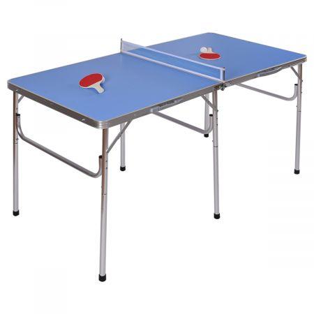 Tischtennisplatte Klappbares Tischtennistisch inkl Schläger, Bälle und Netz Blau 152.4 x 76.2 x 76.2 cm