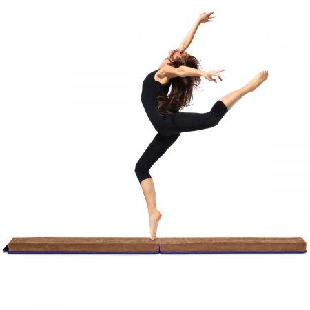 2,4M Schwebebalken Gymnastik Training zusammenfaltbar Kunstleder