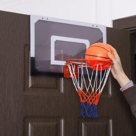 Costway Basketballkorb Basketball-Set Kinder Backboard mit Ring und Netz 45 x 30 cm