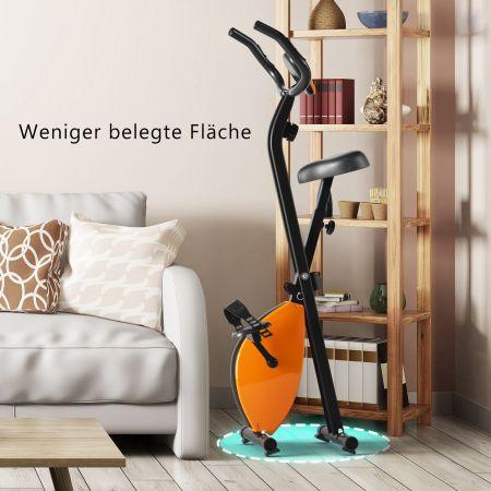 Costway Heimtrainer Ergometer Fitnessfahrrad LCD Display Fahrrad bis 100kg belastbar