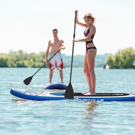 Costway Aufblasbares Stand up Paddle Board Stehendes Board mit Surf Control 325/335 x 76 x 16 cm Grau