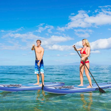 Costway Aufblasbares SUP Board Stand Up Paddle Board breites Board 325/335 x 76 x 16 cm Blau