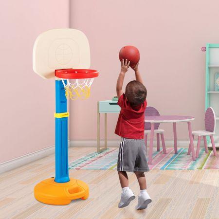 Costway Basketballkorb mit Ständer für Kinder Basketballständer Basketballanlage mit Griff für Innen- & Außen