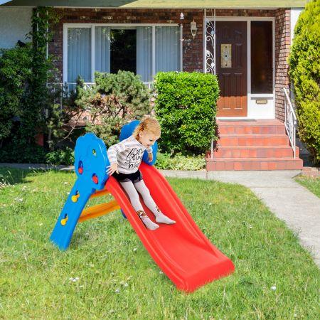 Costway 2-in-1 Spiel-Set Faltbare Rutsche Kinder Rutschbahn Kinderrutsche Gartenrutsche für Indoor und Outdoor