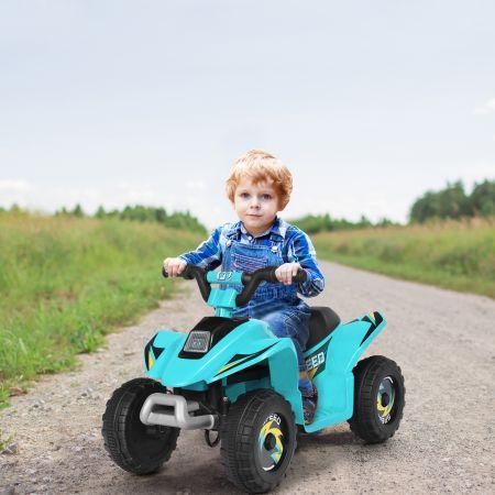 Costway 6V Kindermotorrad Kinder Quad Elektro Kinderquad 73 x 40 x 44,5 cm Blau
