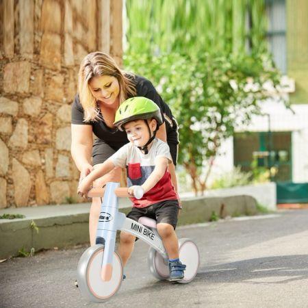 Costway Kinder Laufrad Balance Fahrrad Balance Bike Kinderlaufrad Lauflernrad Dreirad ohne Pedal für Kinder Blau