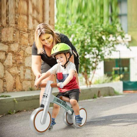 Costway Baby-Dreirad Dreirad für Kinder im Altervon 1-3 Jahren Kinder Laufrad Dreirad ohne Pedal für Kinder Grau