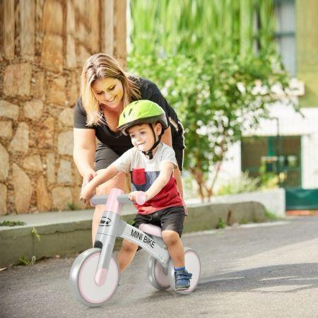 Costway Baby-Dreirad Dreirad für Kinder im Altervon 1-3 Jahren Balance Bike Kinderlaufrad Lauflernrad Rosa