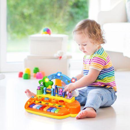 Costway Babyspielzeug Klavier Baby Musikspielzeug Klaviertastatur mit integriertem Musikmodi