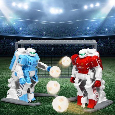 Costway Fußballroboter Spielzeugroboter Mehrspieler-Modus mit Infrarot-Fernbedienung