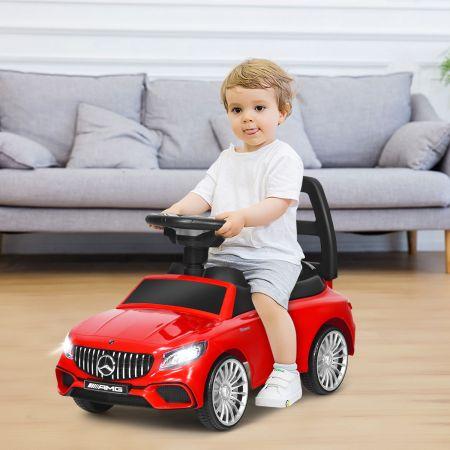 Costway 2 in 1 Mercedes Benz AMG Kinderauto und Schiebeauto Kinderauto Rutscher 68 x 31,5 x 42,5 cm Rot