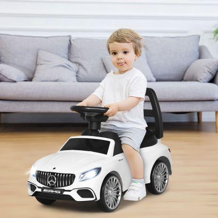 Costway Mercedes Benz Rutschauto Schiebeauto für Kleinkinder Kinder Rutschauto 68 x 31,5 x 42,5 cm Weiß