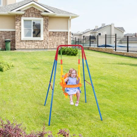 Costway Gartenschaukel Kinderschaukel mit Schaukelgerüst